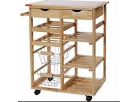 Pine Tile Top Kitchen Trolley in mint condition, grab a bargain!