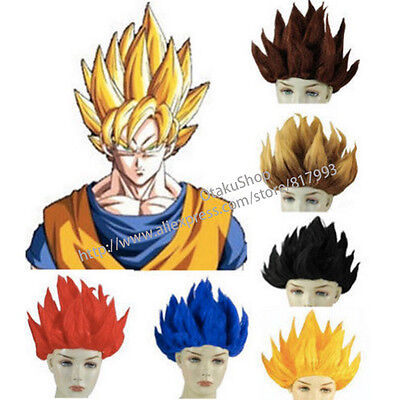 Dragon Ball Z Wigs Goku Super Saiyan COS Short Hair Anime Wig Cosplay Costume (Dragon Ball Z Saiyan Costume)