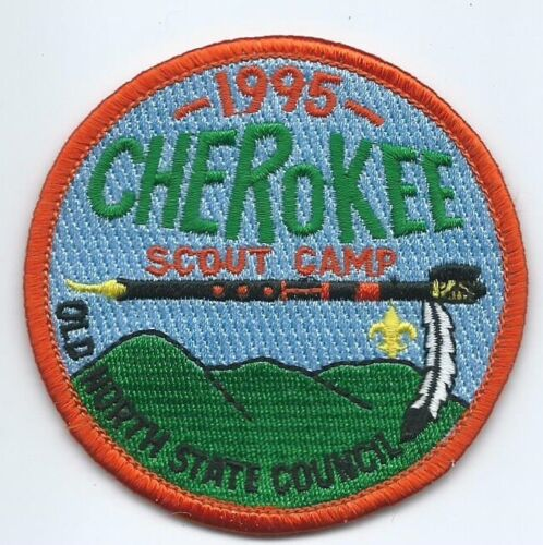1995 Cherokee Scout Reservation Summer Camp Patch, Old North State Council