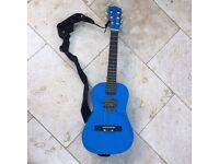 Child's Guitar - Classical Blue Palma Junior with case