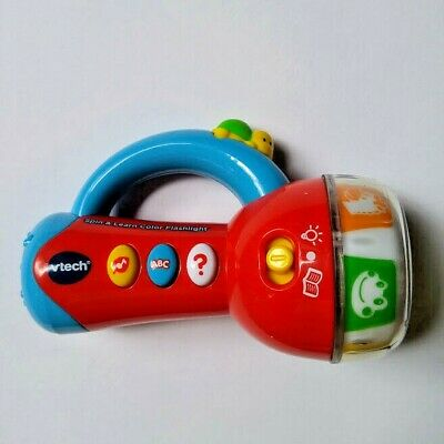 VTech Spin and Learn Color Flashlight Red Toddler Baby Toys Boys and Girls