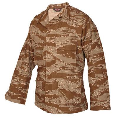 Tru-Spec Desert Tiger Stripe BDU Coat 100% Cotton RS Desert Bdu Tiger Stripe