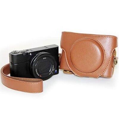 Tasche Für Sony Cyber-shot Dsc-rx100, Rx100 Ii U. Rx100 Iii Leder Optik Neu B