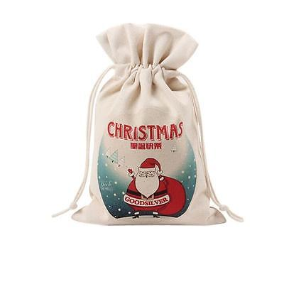 New Cute Drawstring Storage Bag Santa Claus Christams Gift Bag Home Decorations