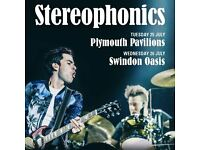 Stereophonics - 2 standing tickets @ Oasis, Swindon on Wed 26 July