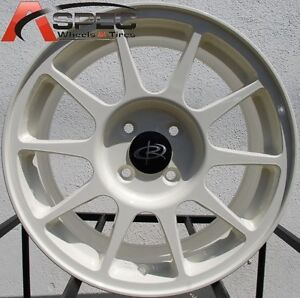 Rota R-SPEC 16X7 +45 White 4X100 Fit Civic Si Ek9 Crx Fit Deo Sol Wheels type-r