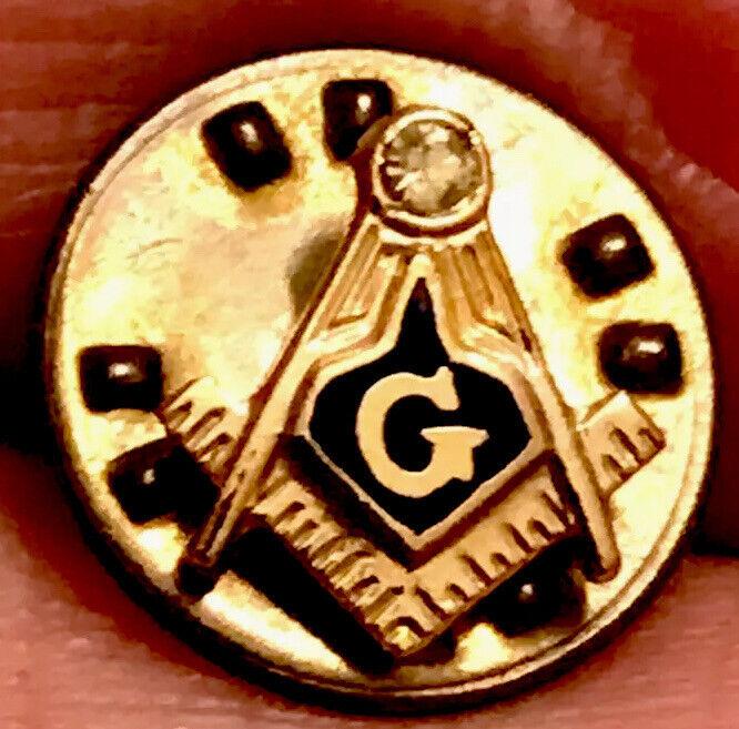 """Vintage Masonic Temple Shriner """"G"""" Gold Tone  Lapel Pin"""