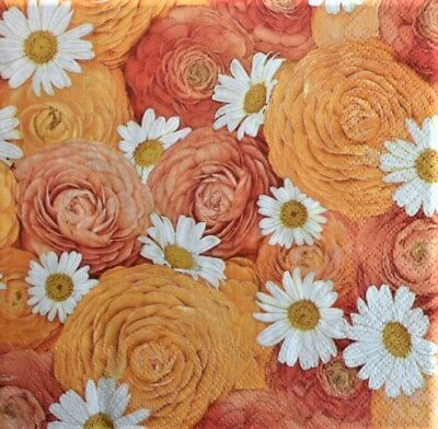 20 x Paper Napkins Sunny Bouquet Flowers for Decoupage Party and Table 94
