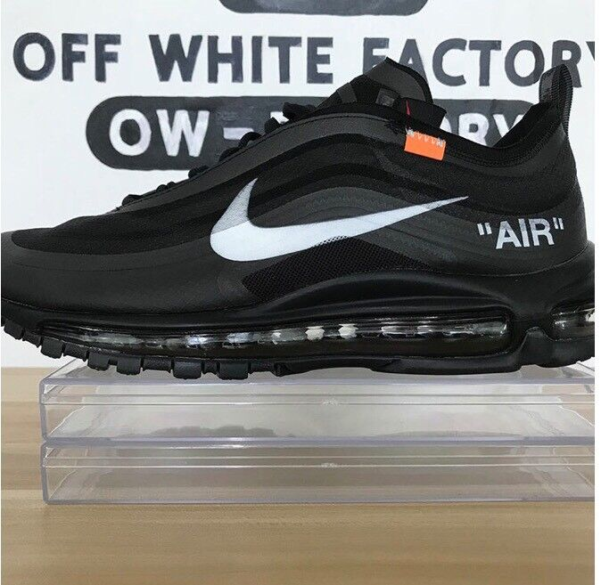 new product 308c9 b0d97 Authentic off-white x Nike air max 97 Black Size 7/8/9/10/11/12 | in ...