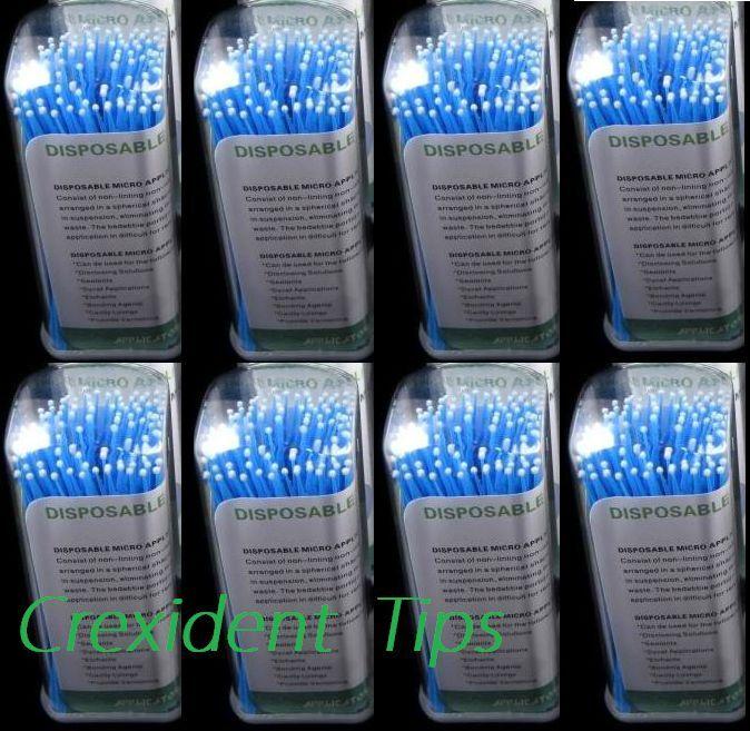 800 Micro Applicator Microapplicators Microbrush Dental - Regular / Blue