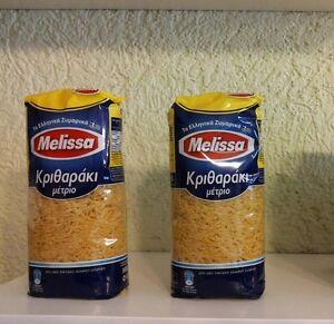 1,96€/kg 6 St. Melissa Reisnudeln Kritharaki Pasta Manestra Nudeln 500 g Medium