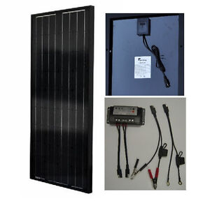 High-efficiency 30W Mono-Crystalline Solar Panel Charger Kit for 12V Battery