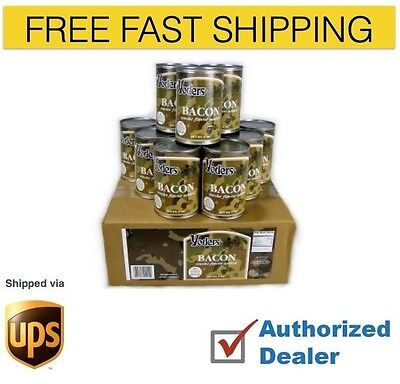 Yoders Bacon 1 case  Cooked 12 cans, 50 slices per can Free Shipping Authorized