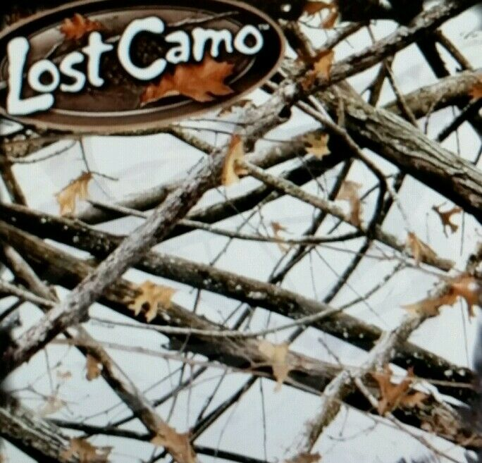 LOST CAMO WINTER WOODS SNOW CAMO HYDROGRAPHIC WATER TRANSFER FILM HYDRO DIP