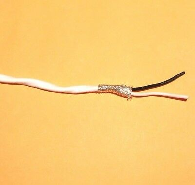 Wire Mil-spec Ptfe 14 Awg 2 Cond Shielded Silver Plated Copper Stranded 5 Ft