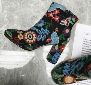 New Embroider Boots Female Autumn 2018