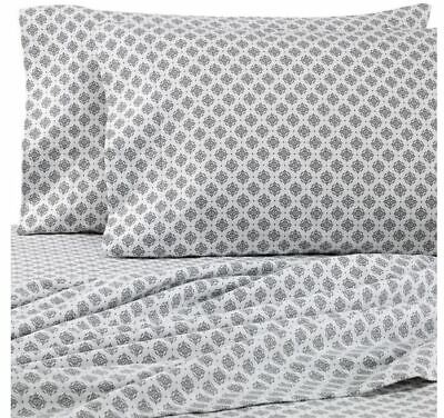 The Seasons Collection® HomeGrown™ Medallion King Flannel Sheet Set ()