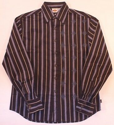 Hard Rock Cafe Fender Med Shirt Stripe Black Ls