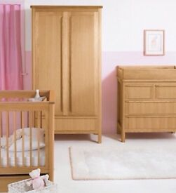 Nursery matching furniture M&SChloe range - cot bed, wardrobe and drawers - great condition
