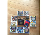 Nintendo DS Lite with 9 games ,charger and case.