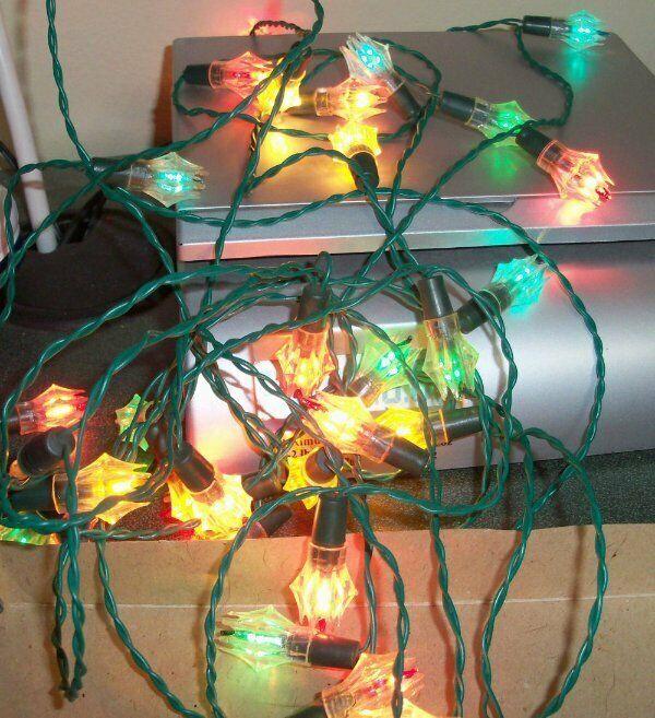 Vintage Sterling-Lite Ice Glow Christmas Lights ~ 2 Strings ~ Works!
