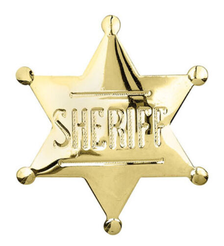 Sheriff Badge Pin Cowboy  - Memorabilia Toy - Gold Finish (SAME DAY SHIPPING)