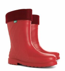 Demar Wellington Boots for Women's, model Luna - Red color with warm fiber inside