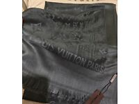 Louis Vuitton scarf shawl 180x70cm dark grey