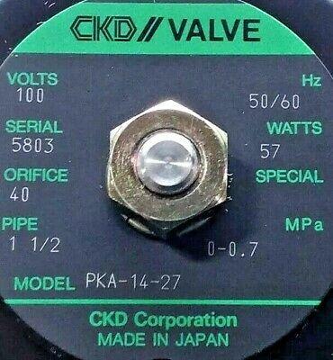 New Ckd Pka-14-27 Valve 100v Oriface 40 1-12 Pipe With Regulator