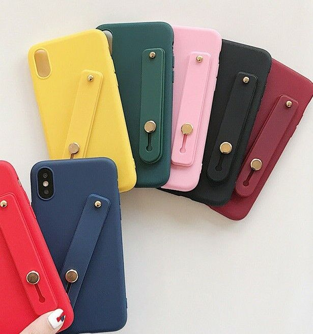 For iPhone X XS MAX XR - Soft TPU Rubber Case Cover w/ Finge