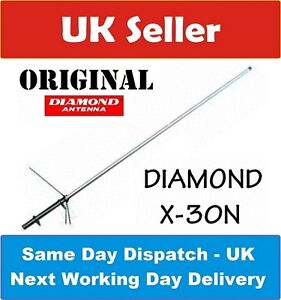 DIAMOND ORIGINAL X-30 N 2M 70CM DUAL BAND COLLINEAR ANTENNA PMR 446 PMR446