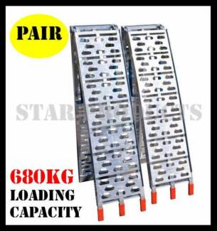 PAIR of Aluminum Folding ATV Loading Ramps - Motorbike Motorcycle