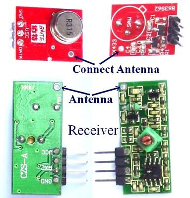 315Mhz RF Transmitter Receiver Link Kit for Arduino/ARM/MCU Remote Control