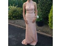 Blush/peach lace formal dress