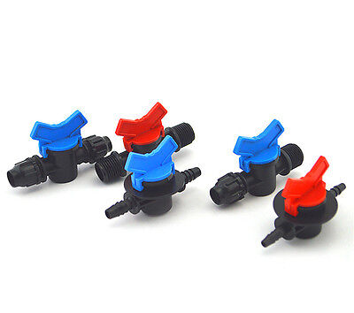 1pcs greenhouse humidifier plant barb ball valve for 5-6mm hose pipe ID