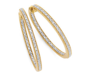 Diamond encrusted yellow gold hoops. 36 sparkling diamonds from MHJ Mount Pleasant Melville Area Preview