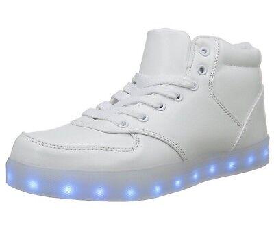 harging LED Lights Sport Shoes Halloween disco 7 UK 41 EU (Halloween Schuhe Uk)