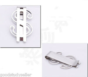 1x-New-Dollar-sign-Design-Stainless-steel-money-clip-credit-card-holder-COOL-Man