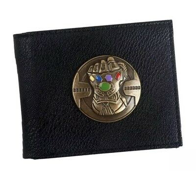 MARVEL COMICS AVENGERS INFINITY WAR THANOS  BIFOLD WALLET LEATHER