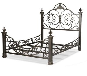"""Talon king bed - glided slate"""