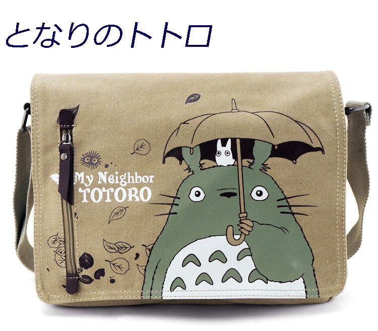 My Neighbor Totoro Teenager Canvas Messenger Shoulder School Bag Studio Ghibli