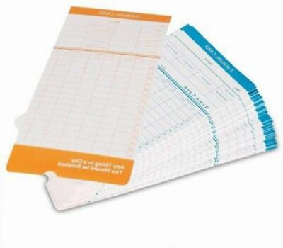 Flexzion 50 Pack Time Cards Monthly Format Thermal Print Paper Timesheet