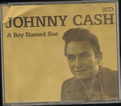 JOHNNY CASH a Boy Named Sue 2 CD BOX 36 track 2004 GOLD Coloured