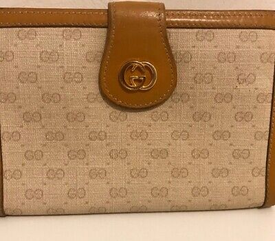 Vintage Gucci Monogram Kisslock Wallet