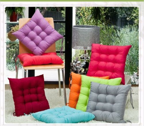 """Indoor Outdoor Dining Garden Patio Soft Chair Seat Pad Cushion 14x14"""" or 16x16"""""""