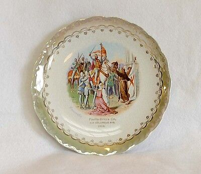 Antique  ADVERTISING PLATE Dated 1919.. Favilla-Bricca Co. Colorful Crusaders