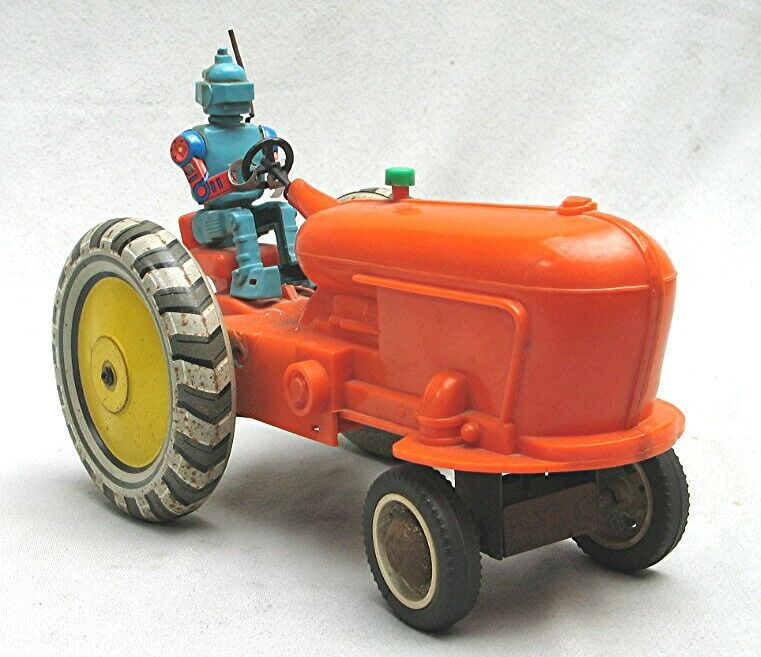 Vintage Plastic  Russian Robot Tractor Toy