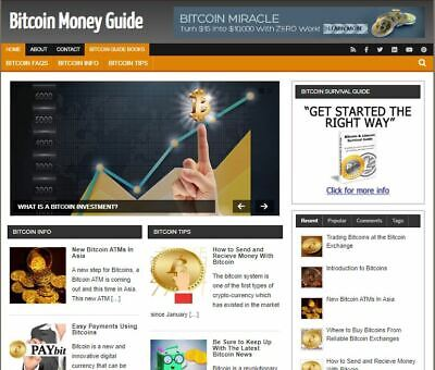 Bit Coin Money Guide Ready Made Blog - Established Profitable Turnkey Website