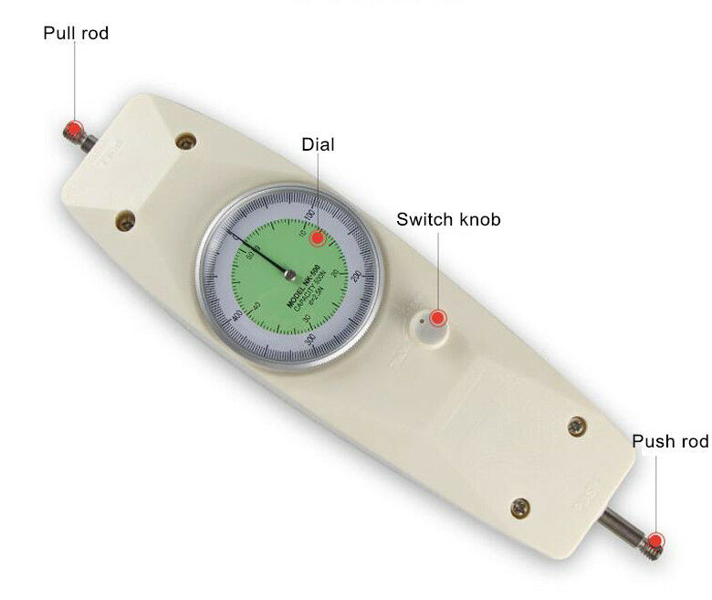 Push Pull Force Gauge : High accuracy n dial mechanical push pull gauge force