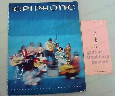 rare VINTAGE 1965 EPIPHONE CATALOG - guitars, amps, basses, banjos, full color!